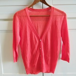 Chic Coral V-front Light Cardigan Size XS